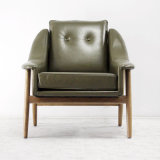 Salone Wood Chair con Leather Sofa Chairs