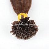 Prolongements pré collés de cheveux de bout des cheveux humains V de Vierge brésilienne