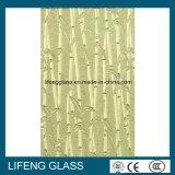 Vidrio modelado helado bambú claro de la lluvia