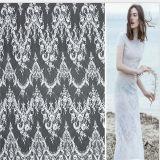 Tessuto bianco del merletto di Flwower del cotone di alta qualità grande