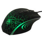 6D caliente Ergonomic Gaming Mouse con 6 Colorful LED Show
