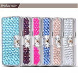 iPhone6를 위한 Crystal 호화스러운 Diamond PU Leather Wallet Phone Case