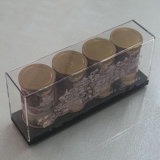 Nueva visualización de acrílico de acrílico de Plxiglass del café del café del café de la caja de presentación del rectángulo