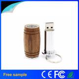 2016 vara de madeira do USB do estilo 8GB da cubeta de vinho da capacidade real por atacado de China