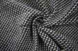 Het zwarte & Witte Weefsel van de Stof van de Wol