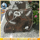 De HerdenkingsPlaque van het graniet met de Gravure van de Lijn