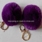 In het groot Konijn POM POM Keyrings in Low Price