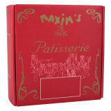 Красное печатание коробки подарка бумаги предпосылки