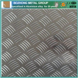 Placa Checkered de aluminio 6063