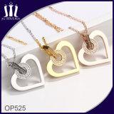 Joyería de imitación del oro del amante del corazón del diseño del OEM con el diamante
