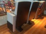 نسيج الأصفر الجديد قاعة كرسي مع الخشب الزان مسند الذراع أثاث المدرسة
