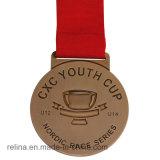 印刷されたリボンが付いている専門家によってカスタマイズされるマラソン連続したメダル