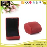 Kundenspezifisches Leather und Velvet Red Small Jewelry Box (8150)