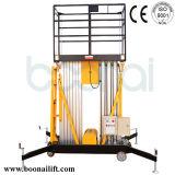 Elevador hidráulico dobro de plataforma de trabalho aéreo do mastro (8m)