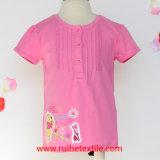 T-shirt rose de broderie pour la fille