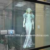 Auto adhesivo Windon lámina holográfica de proyección posterior de la película