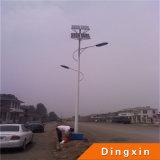 9m Solar-LED Straßenlaterne mit 80W LED Lampe und Batterie auf die Oberseite