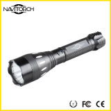 Lampe-torche campante rechargeable noire Emergency en aluminium de DEL (NK-17)