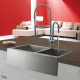 Bauernhaus-Edelstahl Undermount 18 Anzeigeinstrument-Wanne für Küche