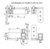 木のドア(KTG-408)のための高品質のピボットヒンジ