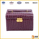Fabricantes de cuero China del rectángulo de joyería de las ideas del regalo del negocio