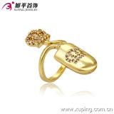 Gold-Plated специальное имитационное кольцо перста ювелирных изделий способа 13253 самых последних 14k в медном сплаве