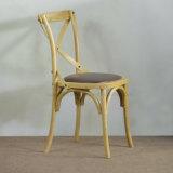 食事のためのクッションが付いている旧式な田園木の十字の背部椅子(SP-EC611)