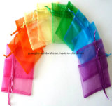 Sac promotionnel coloré fait sur commande d'organza de cadeau