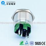 Qn25-B3 25mm momentan|Verriegeln hoher konkaver Kopfpin-des Terminalmetalldrucktastenschalters