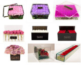 Casella di plastica della Rosa del contenitore del fiore della fila dell'acrilico 3 della qualità superiore