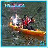 2 Plastic Kano van de Vissersboten van de Kajak van de persoon de Transparante