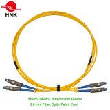 Cuerda de remiendo óptica unimodal a dos caras a una cara de fibra con varios modos de funcionamiento de MU PC/Upc