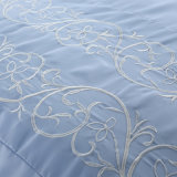 Materia textil casera bordada algodón del lujo 100%