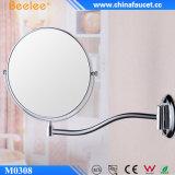 El doble extensible redondo del cromo echó a un lado espejo del cuarto de baño