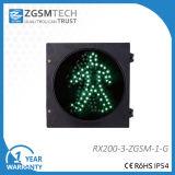 200mmのトラフィックの薄緑の通行人の往来ライト
