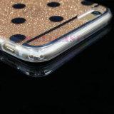 Caja del teléfono del PUNTO de la pintura de IMD 3D para iPhone/5/6/6p con el polvo de Gliter