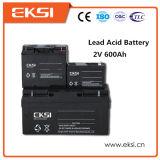 2V 600ah nachladbare wartungsfreie Leitungskabel-Säure-Batterie