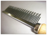 Гребень вош волос холить собаки & кота с деревянной ручкой