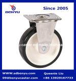 Schwenker-Fußrolle mit schwarzem Rad für industriellen Gebrauch