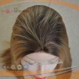 Menschenhaar-Hand gebundene blonde Spitze-Vorderseite-Frauen-Perücke