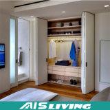 Gabinete novo do armário do Wardrobe do MDF do projeto para a mobília do quarto (AIS-W155)