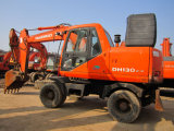 Alta calidad del excavador usado de la rueda de Daewoo 130W-5