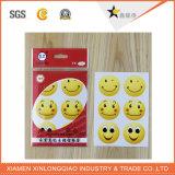Servicio de impresión de etiquetas para requisitos particulares de la etiqueta adhesiva de papel impresas insignia de la etiqueta engomada