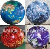Globo inflable del balompié del helio del PVC para los deportes