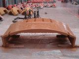 、鉄の鋳造砂型で作る、薄い壁厚さのカウンターウェイト