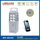luz Emergency de la exportación de 24PCS LED SMD+USB