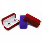 Double Ringsのための中国Factory Simple Fashion Rectangle Velvet Jewelry Wedding Box