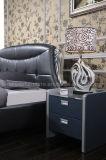 Ledernes Luxuxbett des königlichen Entwurfs-A03