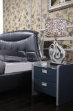 A03高貴なデザイン贅沢な革ベッド
