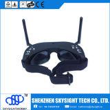 Óculos de proteção de Fpv/de modalidade e de diversidade 5.8GHz Built-in video dos vidros 2D vidros do receptor